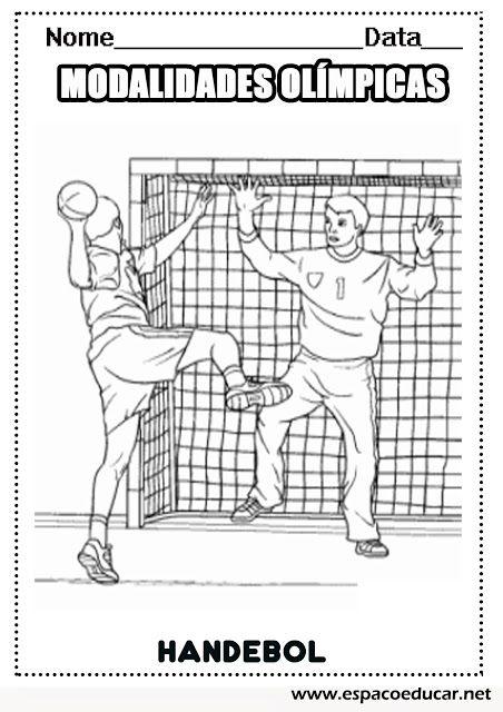 Handebol Desenhos Das Modalidades Esportivas Das Olimpiadas Para