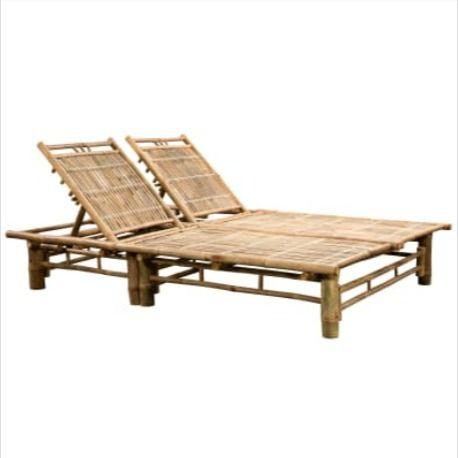 Bain De Soleil 2 Places Ajustable En Bambou Transat De Jardin Bambou Bain De Soleil En Bambou Chaise Longue Bain De Soleil Jardin Patio