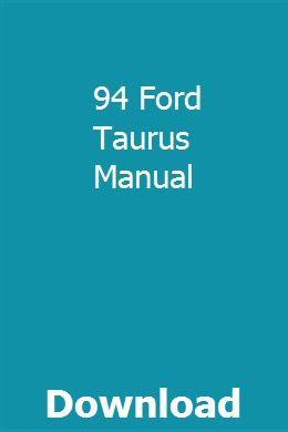 94 Ford Taurus Manual With Images Kia Sedona Manual Ford Falcon