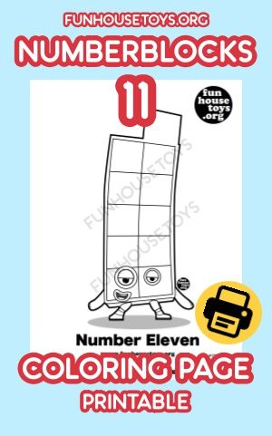 Printable Coloring Page Numberblocks 11 Available On Our Website Fun Printables For Kids Printable Coloring Pages Coloring Pages