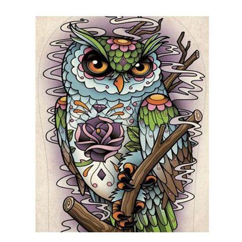 Sugar Skull Owl Tattoo Design Case For Galaxy