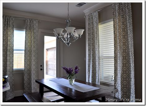 Hanging Curtains Near Ceiling Instead Of Directly Above Windows