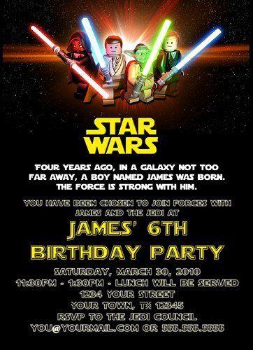 Star Wars Online Invitations Beautiful Free Printable Star Wars Birthday Invitations T Star Wars Invitations Lego Star Wars Birthday Star Wars Invitations Free