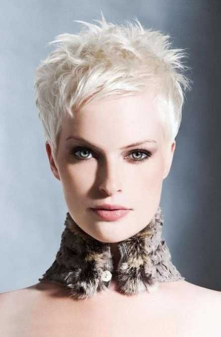Blonde Kurzhaarfrisuren Damen 2017 Bilder Freche