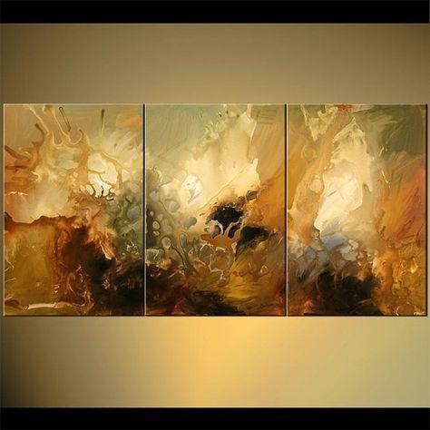 Gran pintura moderna Original abstracto arte sobre por OsnatFineArt