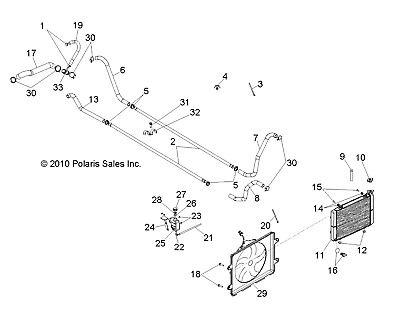 Ebay Advertisement Polaris Hose Radiator Upper 5413745 New Oem