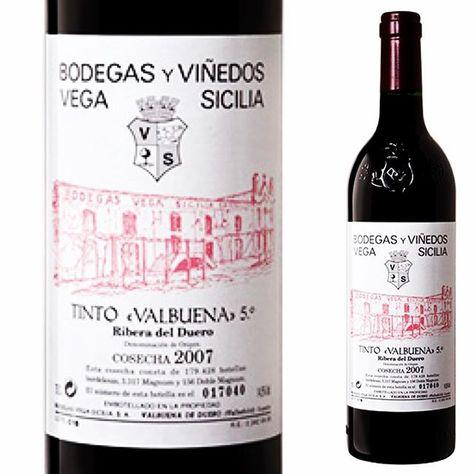 Vega Sicilia Valbuena Valbuena 5 Año Añada 2007 Bodega Vega Sicilia D O Ribera Del Duero Tipo Tinto Gra Etiquetas De Vino Vinos Y Quesos Botellas De Vino