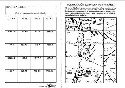 Fichas De Trabajo Multiplicacion De Fracciones Ejercicios Problemas Matematicos De Multiplicacion Multiplicacion