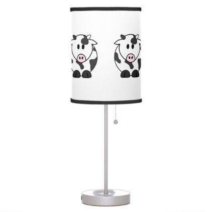 Cute Dairy Cow Table Lamp Zazzle Com In 2020 Lamp Table Lamp Dairy Cows