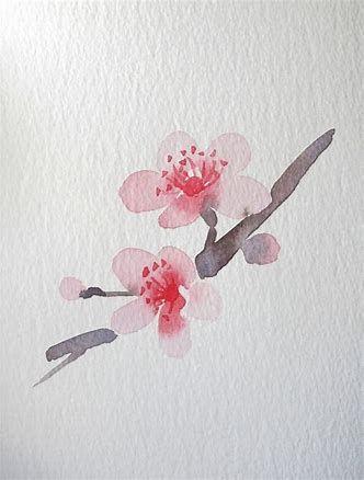 Image Result For Japanese Flower Watercolor For Beginners Flower