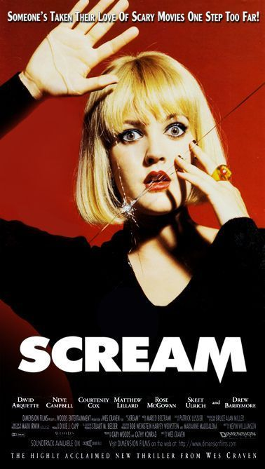 65748 Scream Movie Drew Barrymore ve Campbell Wall Print POSTER UK