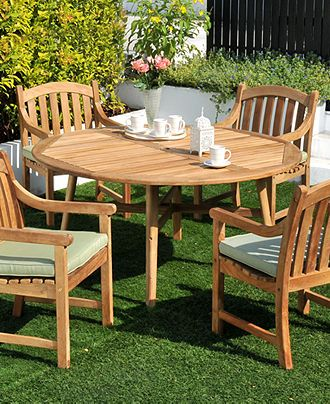 Dine Alfresco With Wooden Outdoor Furniture Princeton Teak Furniture Buy Now At Macy Patio Furniture Dining Set Outdoor Furniture Decor Teak Outdoor Furniture