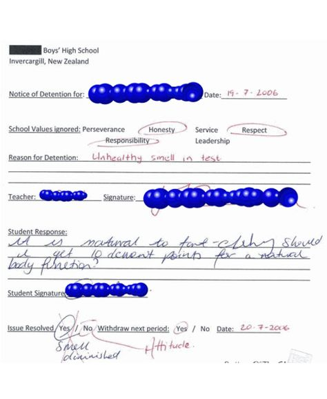 Wacky and Weird Detention Slips Funnies Pinterest Detention - payment slips