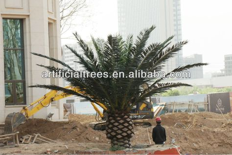 Large Metal Outdoor Palm Tree Galvanized Steel And High Quality Plastic Palm Tree Bark Material Palm Trees Tree Palm