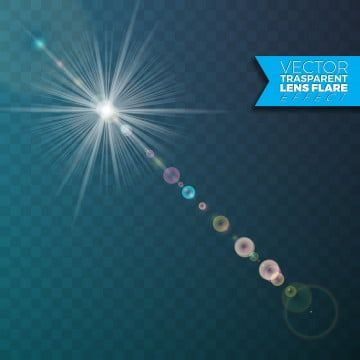 Realistic Vector Lens Flare Light Effect On Transparent Background Glow Glitter Flash Png And Vector With Transparent Background For Free Download Light Flare Lens Flare Lens Flare Effect