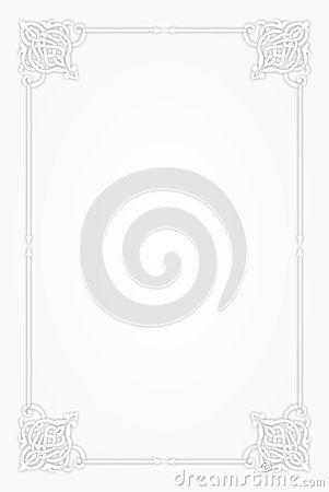 Blank Template Of Menu Card Background With Frame A Cute And Fancy Page Frame For Restaurant Menu Card Design Menu Cards Frame Template