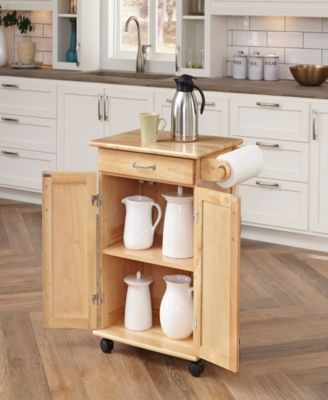 Home Styles Natural Breakfast Bar Kitchen Cart With Wood Top Wooden Kitchen Furniture Solid Wood Kitchens Wooden Kitchen