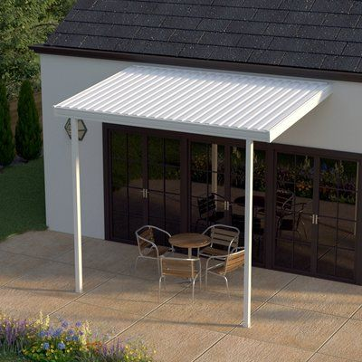 Heritagepatios Aluminum Attached Patio Cover Awning Size 144 W X 96 D Patio Awning Patio Covered Back Patio