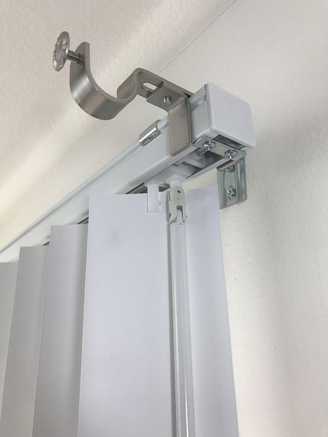Nono Bracket Outside Mounted Blinds Curtain Rod Bracket Attachment Curtains With Blinds Vertical Blinds Makeover Curtains Over Blinds