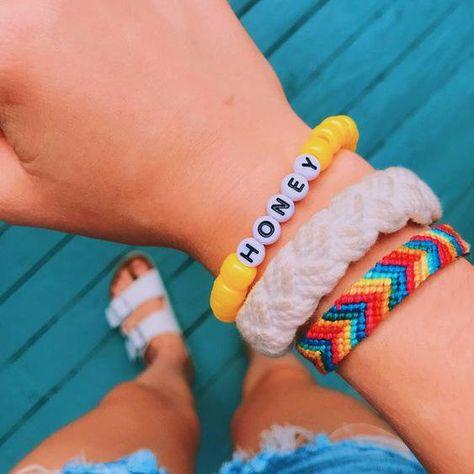 Personalized Saying Alphabet Bead Word Kandi Bracelets