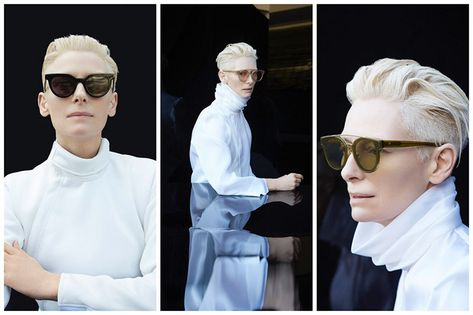 3718f897a872 Actress and style icon Tilda Swinton is showing off her designer skills.  The  Doctor Strange  star teamed up with eyewear brand Gentle Monster on an  ...