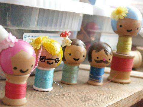 spool doll tutorial...easy for the kids to make