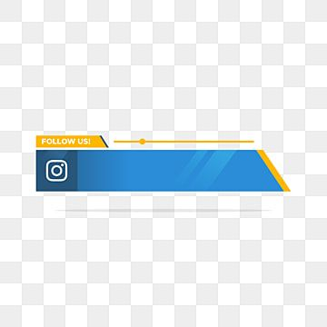 Instagram Follow Us Lower Third In Flat Style Symbol Us Internet Png And Vector With Transparent Background For Free Download Lower Thirds Instagram Logo Instagram