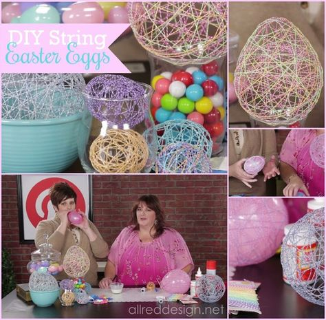 How to make bakers twine Easter eggs at My Craft Channel