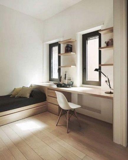 Home Office Guest Room Combo Daybeds Desks 26 Ideas In 2020 Apartment Bedroom Design Small Apartment Bedrooms Minimalist Bedroom Design