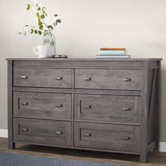 Charlton Home Theus 6 Drawer Double Dresser Reviews Wayfair Bedroom Furniture Dresser Furniture Double Dresser
