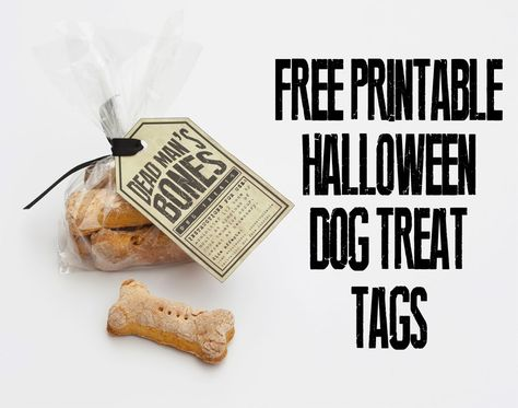 Here's something to dress up your homemade dog treats next month! Free Printable Halloween Dog Treat Tags | delovely details