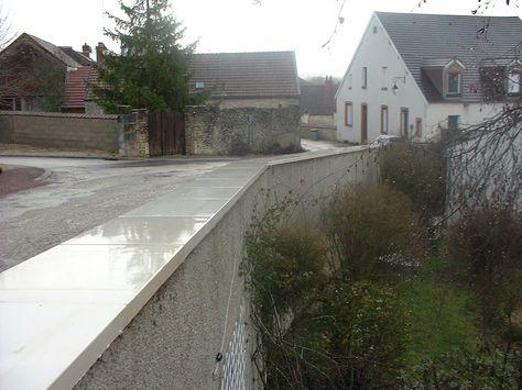 Couvre Mur Plat En Béton Lisse Ciment Blanc Ou Gr Couvre