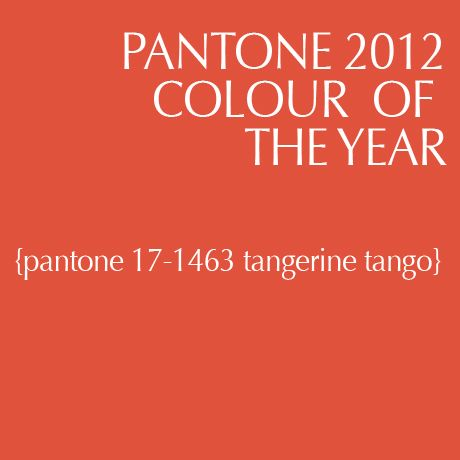 Tangerine Tango is Pantone's color of the year!