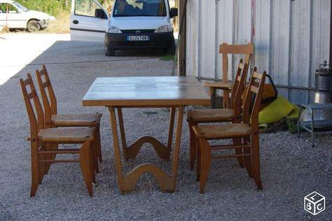 Table Chaise Guillerme Et Chambron Année 5060 Ameublement