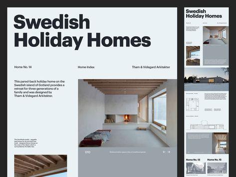 Swedish Holiday Homes — Website
