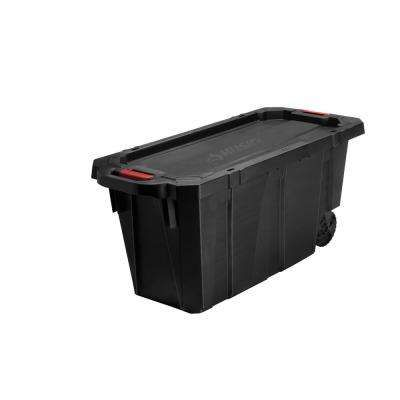 Extra Large Storage Containers Storage Organization The Home Depot In 2020 Storage Bins With Wheels Storage Bins Rolling Storage Bins