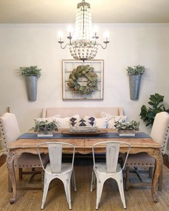 14 Amazing Rustic Farmhouse Dining Room Design Ideas Farmhouse Dining Dining Room Design Farmhouse Dining Room