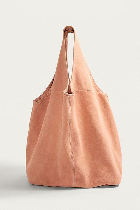 Tan Ladies Small Shoulder Bag Work Handbag Slouch Hobo Plain Tote Bag Adjustable