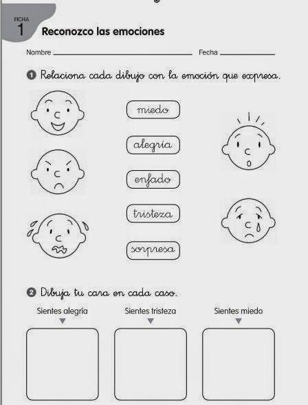 Maestra De Primaria Educacion Emocional Educacion Emocional Emociones Preescolares Actividades Emociones