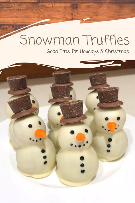 This Snowman Truffles is so cute and fun. They were a hit at Christmas party. #FunFood #KidsFriendly #Easy #HolidayMeals #Christmas #PartyDish #GoodEats