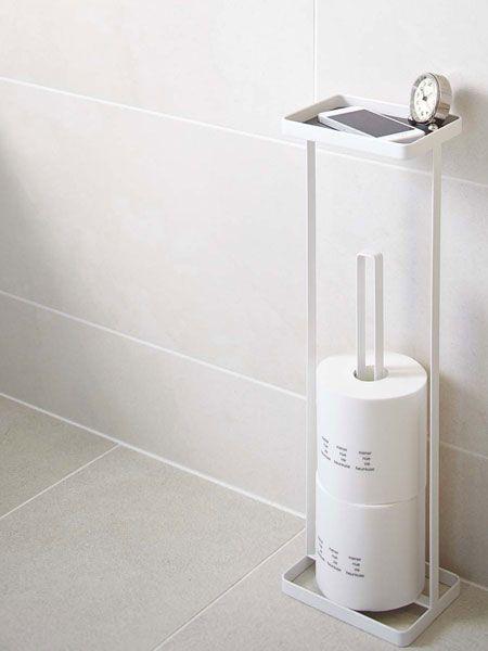 ちょっとした小物を置けるトイレットペーパーホルダー 2020 トイレ インテリア トイレットペーパー トイレットペーパー 収納
