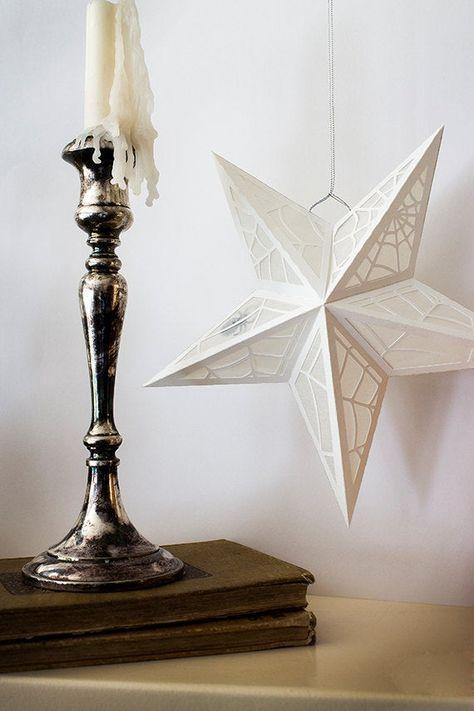 White Star Spiderweb Paper Lanterns Only