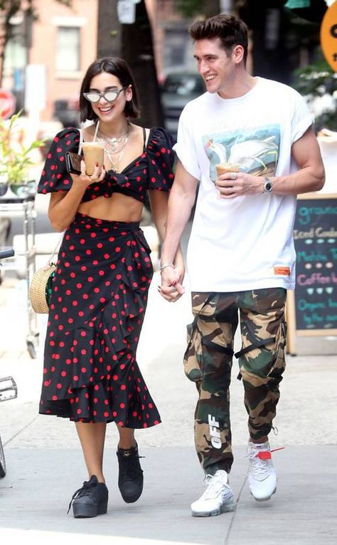 Dua Lipa & Isaac Carew from The Big Picture: Today's Hot Photos Cuties! The singer and boyfriend look adorable walking around sunny Manhattan.