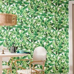 Oden Palm Leaf 16 5 L X 20 5 W Floral And Botanical Peel And Stick Wallpaper Roll Vintage Floral Wallpaper Wayfair Dark Flowers Wallpaper Albadorataitalia C