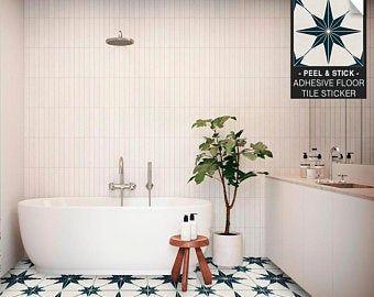 Encaustic Moroccan Tile Wall Stair Floor Self Adhesive Vinyl Stickers Kitchen Bathroom Backsplash Carrelage Decal Peel Stick Home Decor Vinyl Flooring Tile Floor Floor Decal