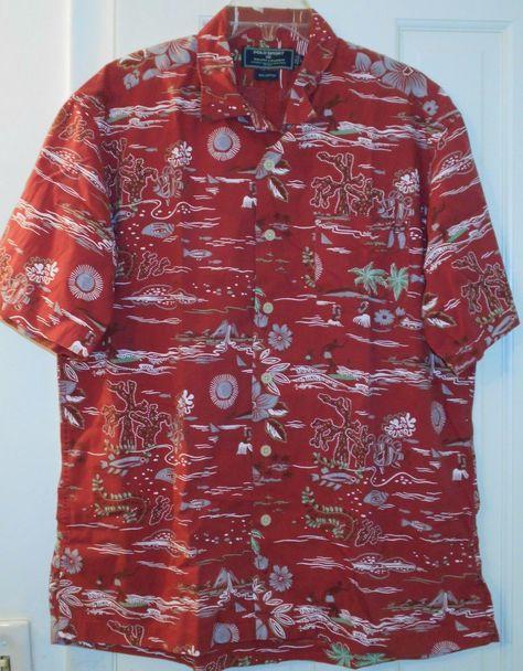New Tommy Bahama Men/'s Hawaiian Shirt Floral Light Blue Original Fit S M $125