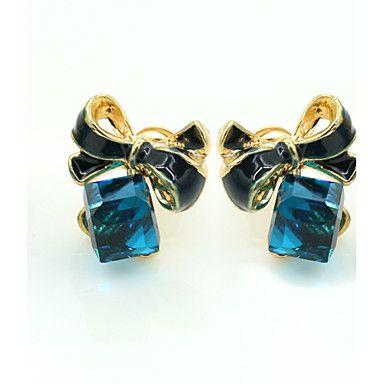 Pentru femei Cristal Cercei Stud femei European Modă 18K Placat cu Aur Ștras Placat Auriu cercei Bijuterii Albastru Pentru / Diamante Artificiale / Cristal Austriac