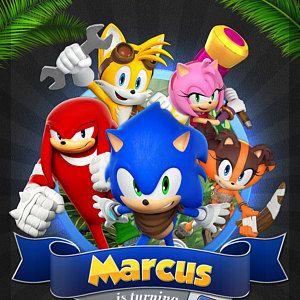 Invitación Sónica Fiesta De Cumpleaños De Sonic Sonic