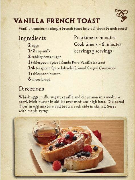 #Vanilla French Toast #SpiceIslands