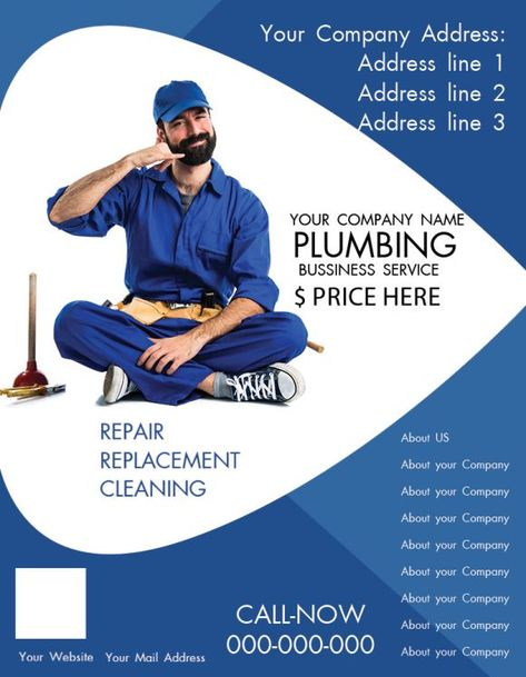 20+ Free Plumbing Flyers to Skyrocket your Plumbing business - Demplates